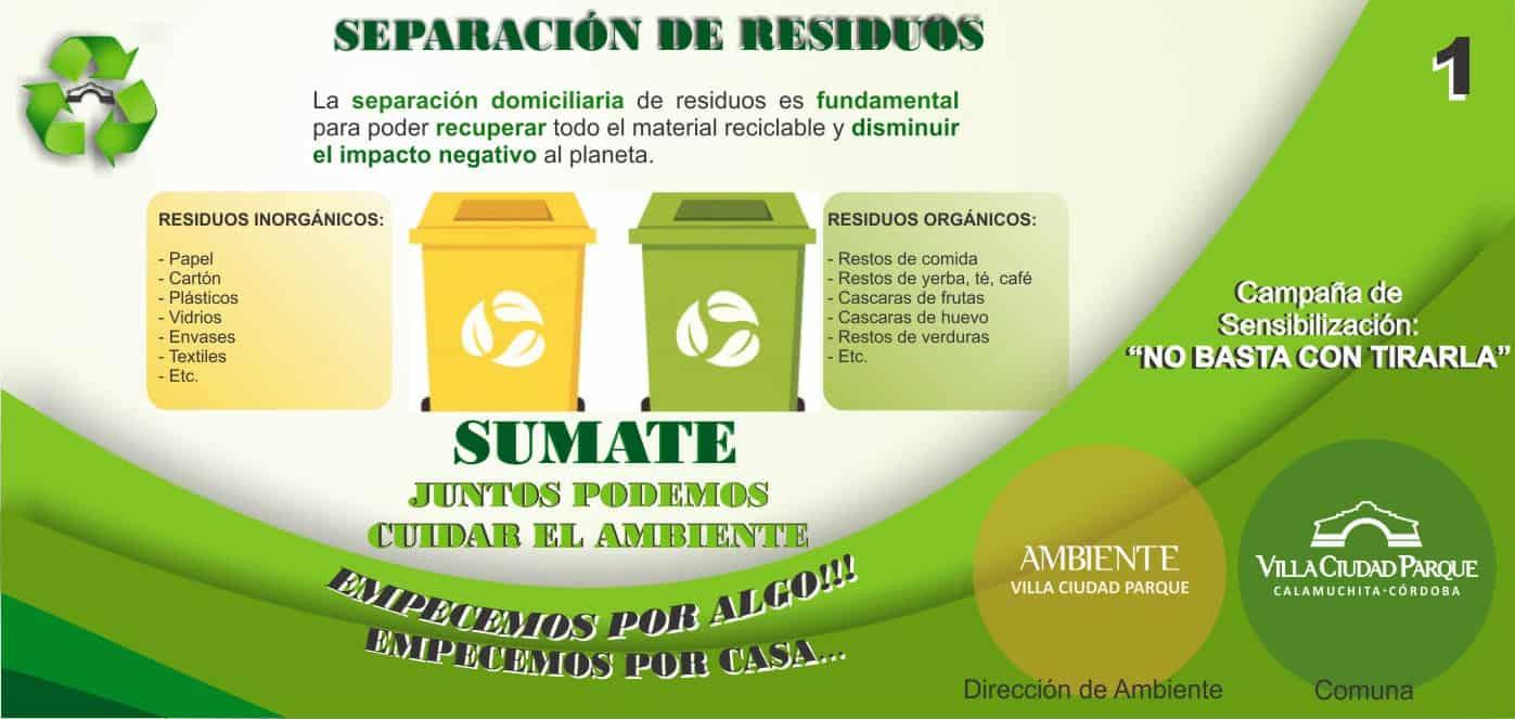 Separación de Residuos Campaña de Sensibilizacion